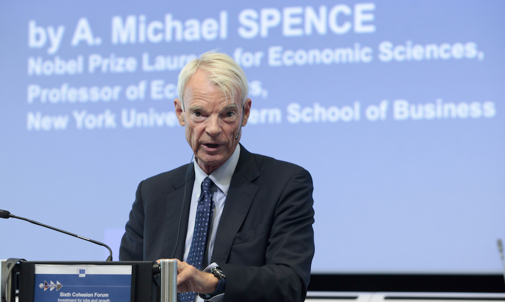 Michael Spence, 2001 Nobel Prize Laureate in EconomicsÆ; Professor of Economics at the Leonard N. Stern School of Business of the New York University (NYU)