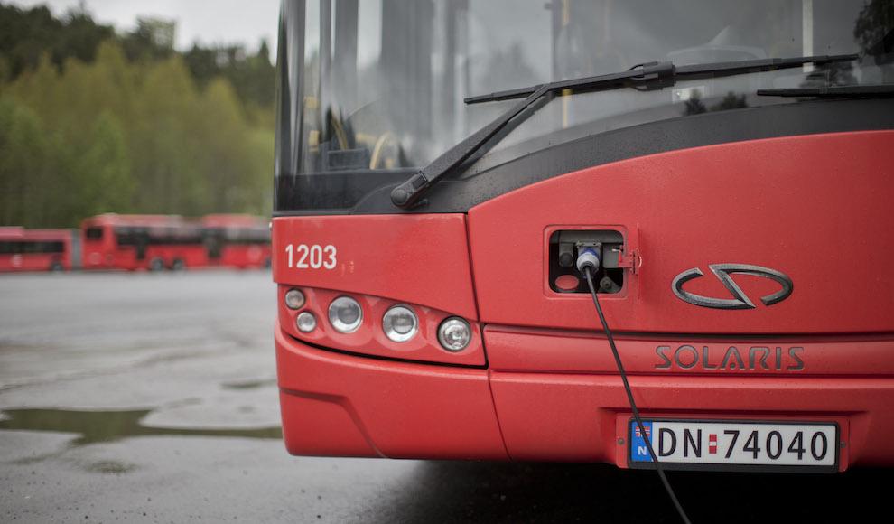 externa bus solar energía