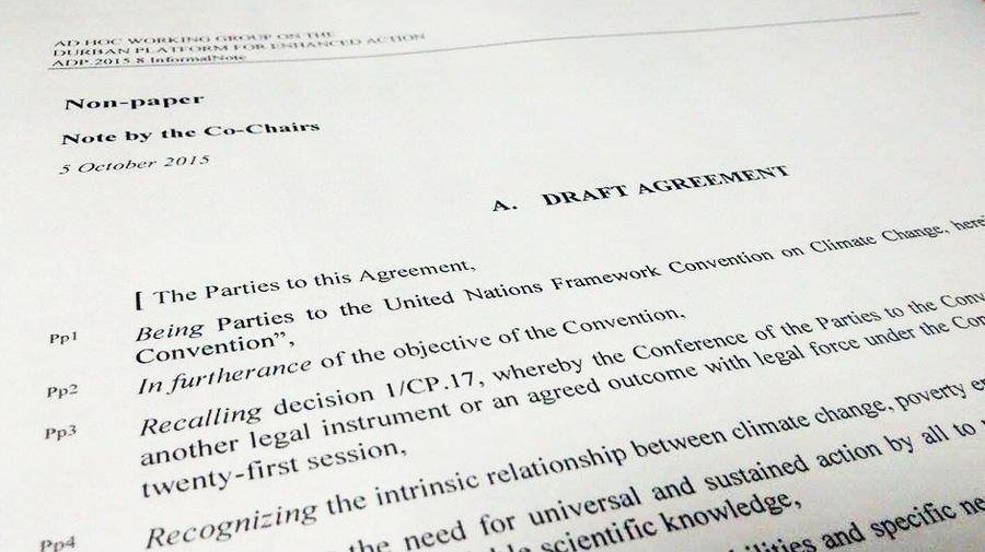 Borrador acuerdo COP21