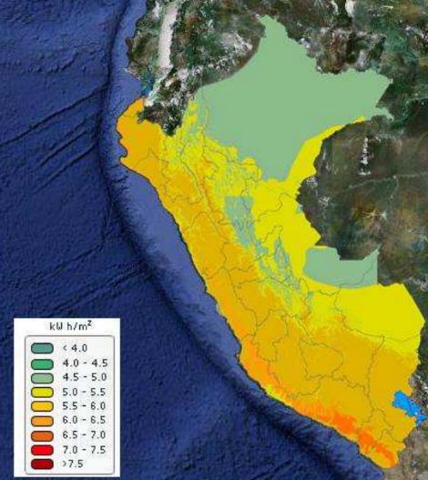 Mapa eólico Peru energia
