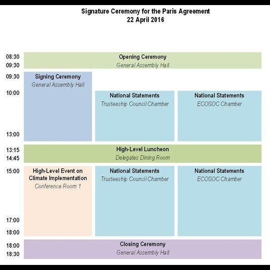 Agenda- Firma del Acuerdo